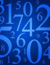Chemin de vie 6 numerologie fond bleu