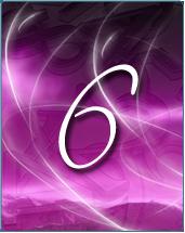 Chiffre 6 ecrit en violet