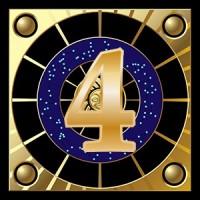 Le nombre 4 ecrit en or
