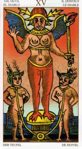 Carte Tarot Diable.Le Diable Du Tarot De Marseille Esteban Frederic