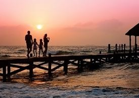 Famille a la mer