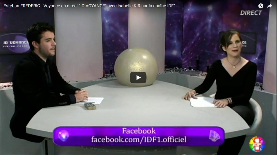"""Voyance en direct """"ID VOYANCE"""" avec Isabelle KIR sur la chaîne IDF1"""