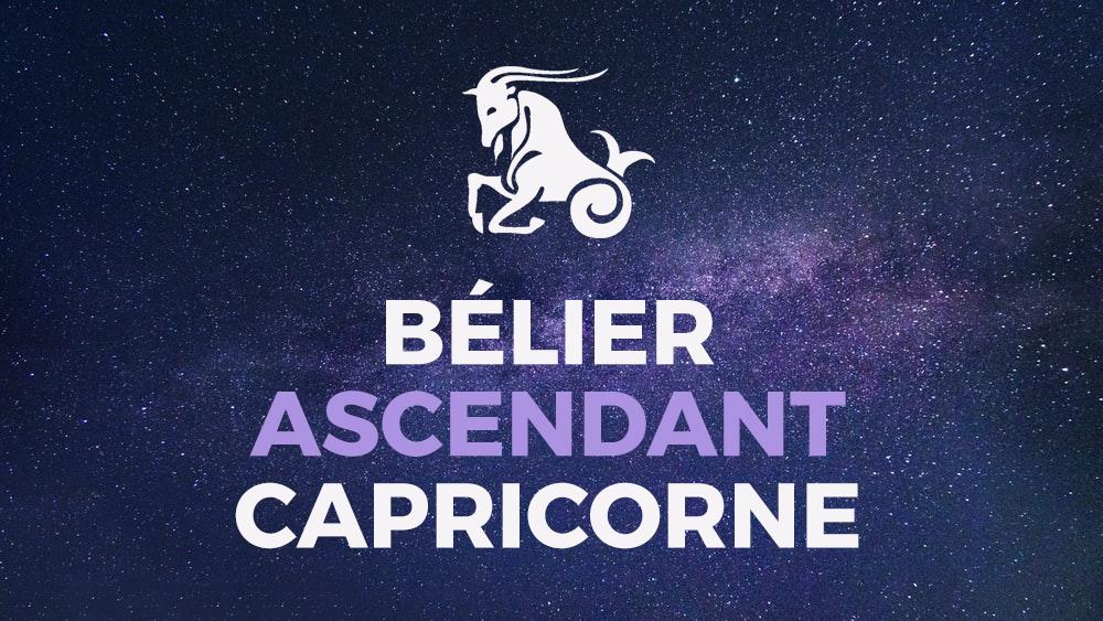 belier ascendant capricorne