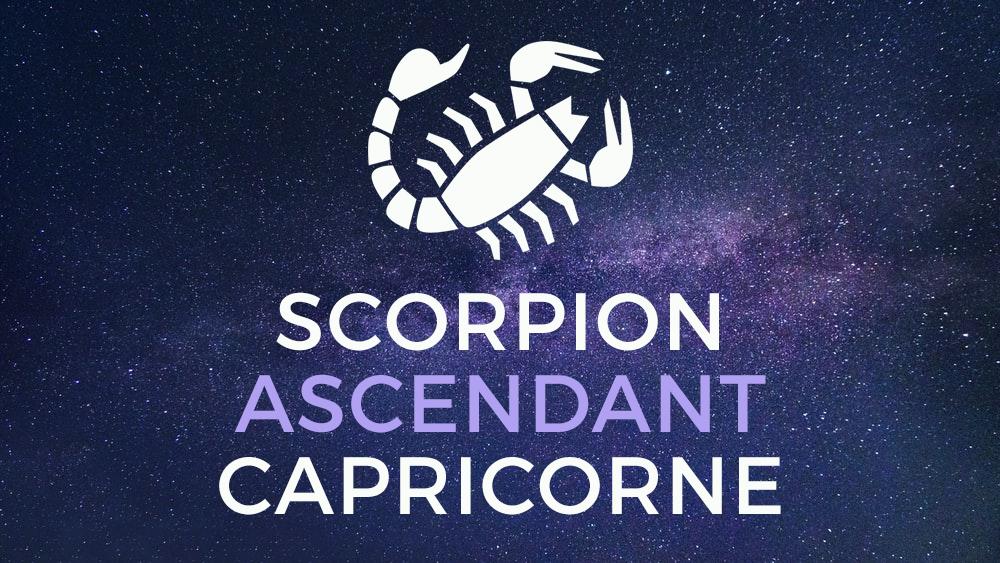 scorpion capricorne