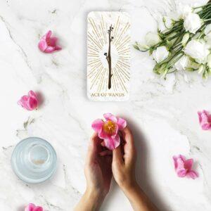 tarot et fleurs