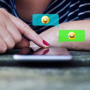 telephone portable et emoji