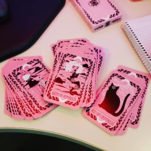 cartes tarot roses