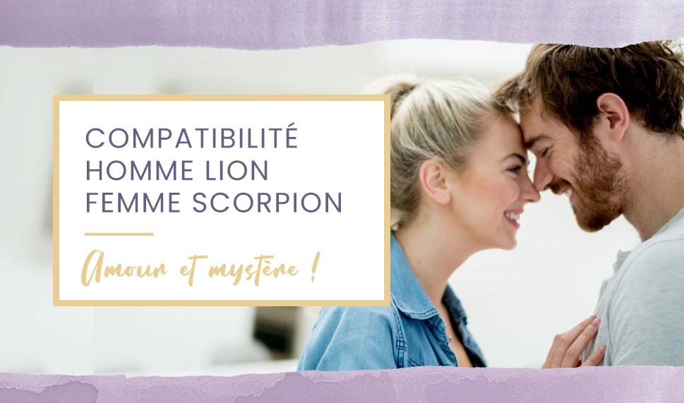 compatibilité homme lion femme scorpion