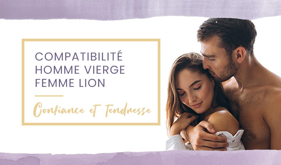 homme vierge femme lion