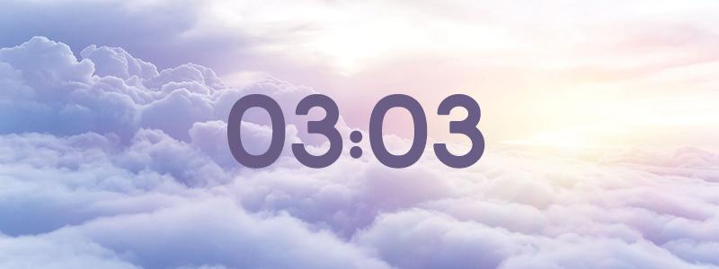 heure miroir 03:03